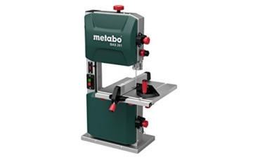 Metabo 619008000 Bandsäge BAS 261 PRECISION | + Bandsägeblatt, Parallelanschlag, Winkelanschlag, Absaugadapter, Schiebestock (Auflagefläche: 328 x 335 mm / 400 W / 32,5 kg) -