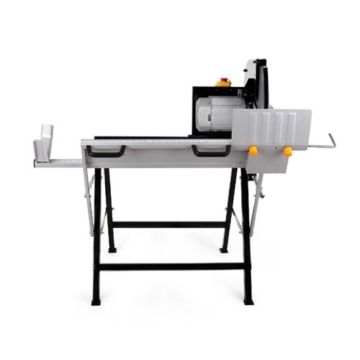 EBERTH 405 mm Wippsäge (135 mm Holzdurchmesser, 1300 mm Holzlänge, Ø 405 mm Hartmetallsägeblatt, Bremsschalter, stabiles Untergestell, Elektromotor) -