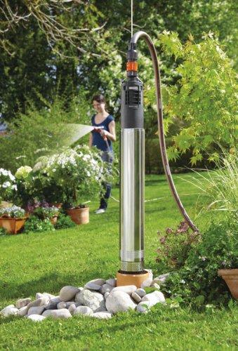 Gardena 1499-20 Premium Tiefbrunnenpumpe 6000/5 inox automatic; Ein/Aus Automatik; Gehäuse Edelstahl; integrierte Trockenlaufsicherung (Motorleistung: 950 W; Fördermenge: 6000 l/h; Förderhöhe: 50 m) -
